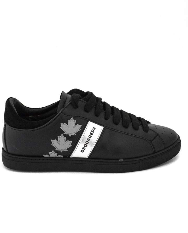 DSQUARED2 Sneakers In Black Leather.