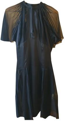 Antik Batik Blue Silk Dress for Women Vintage