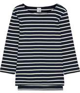 Iris and Ink Madeline Striped Ribbed-Knit Cotton-Jersey Top