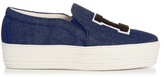 Joshua Sanders LA denim slip-on platform trainers