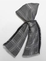 Calvin Klein Allover Lurex Grid Blanket Scarf