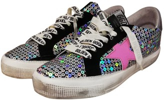 Golden Goose \N Black Glitter Trainers