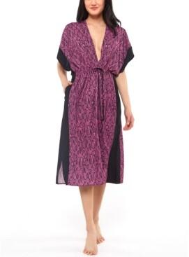 Jessica Simpson Snakecharmer Printed Cover-Up Dress Women's Swimsuit