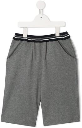 Familiar Striped Waistband Shorts