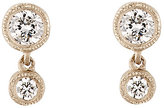 Tate Women's Diamond Double-Drop Earrings-WHITE, NO COLOR
