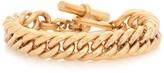Tilly Sveaas Large 23.5kt gold-plated curb chain bracelet