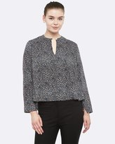 Oxford Gemma Abstract Print Blouse