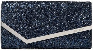 Jimmy Choo glitter-detail Emmie clutch