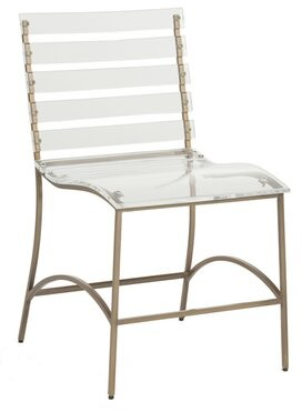 Ellen Dining Chair Gabby Frame Color: Gold
