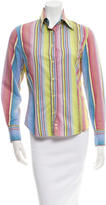 Etro Striped Button-Up Top