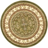 "Safavieh Lyndhurst Collection LNH331C Sage and Ivory Round Area Rug, 5 feet 3 inches in Diameter (5'3"" Diameter)"