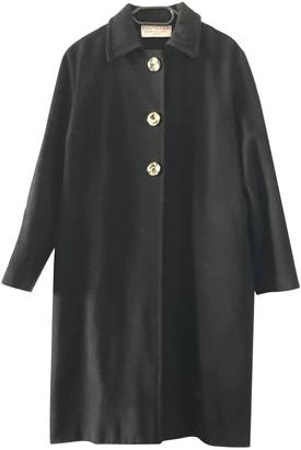 Fontana Milano Black Wool Coat for Women