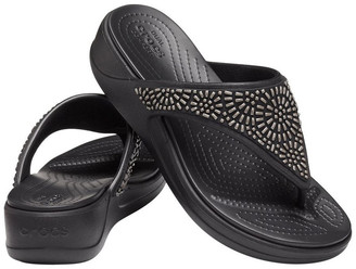 Crocs Monterey Diamante 206343 Black Sandal