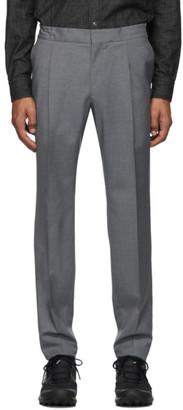 Ermenegildo Zegna Grey Formal Banded Drawstring Trousers