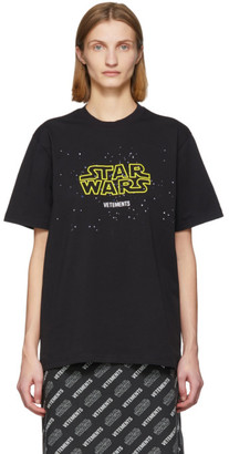 Vetements Black STAR WARS Edition Episodes T-Shirt