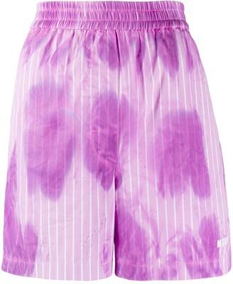 MSGM Tie-Dye Print Shorts