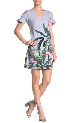 Ted Baker Emerry Pistachio Cold Shoulder Dress