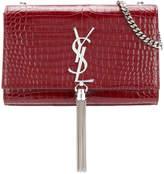 Saint Laurent crocodile embossed medium Kate tassel satchel