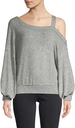 Free People Cutout Long-Sleeve Top