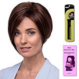 Claudia by Estetica, Wig Galaxy Hair Loss Booklet & Magic Wig Styling Comb/Metal Pick Combo (Bundle - 3 Items), Color Chosen: R2-4