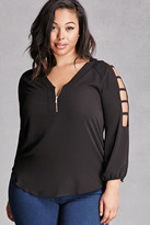Forever 21 FOREVER 21+ Plus Size Ladder Cutout Top