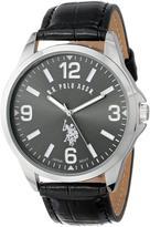 U.S. Polo Assn. Classic Gunmetal Dial Men's Watch with PU Strap
