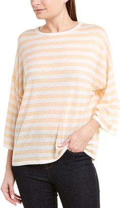Vince Striped Boxy Wool & Cashmere-Blend Top