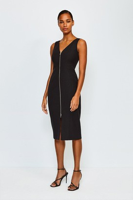 Karen Millen Zip Front Pencil Dress