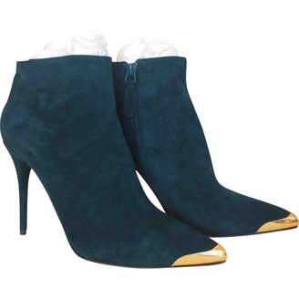Alexander McQueen \N Green Suede Ankle boots