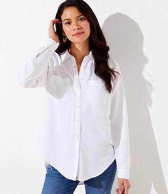 LOFT Button Down Tunic Shirt