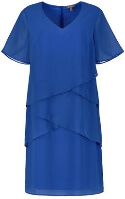 Ulla Popken Draping Mid-Length Dress with Tiers
