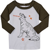 Stella McCartney COTTON ROARING TIGER GRAPHIC LONG-SLEEVE T-SHIRT