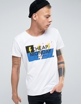 Cheap Monday Standard Edge T-Shirt Bolts Logo