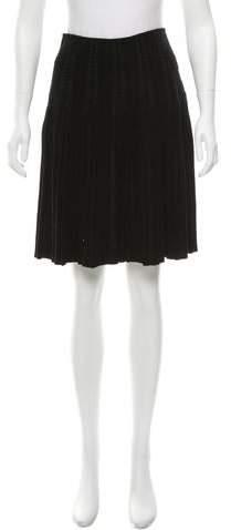 Alaia Pinstripe Knit Skirt w/ Tags