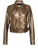 Elie Saab Gold Leather Jacket