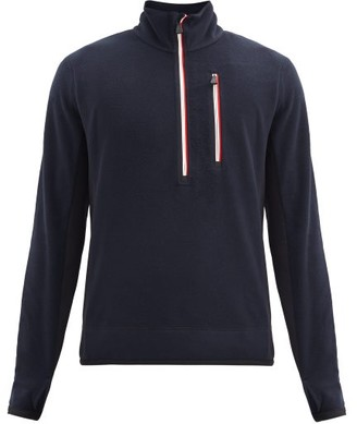 MONCLER GRENOBLE High-neck Technical-fleece Sweater - Dark Navy