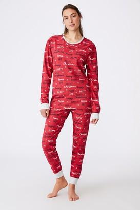 Cotton On Adults Unisex Christmas Long Sleeve Pyjama Set