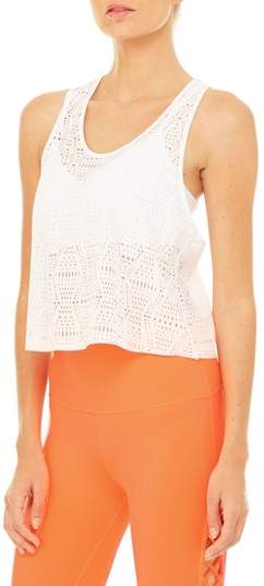 Alo Women's Hollow Perforated Crop Tank