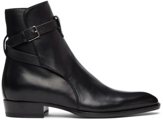 Saint Laurent Black Wyatt Jodhpur Boots