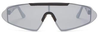 Acne Studios Mirrored Shield Acetate Sunglasses - Mens - Black