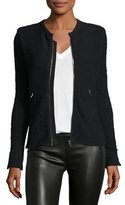 IRO Amiya Fitted Tweed Jacket, Black