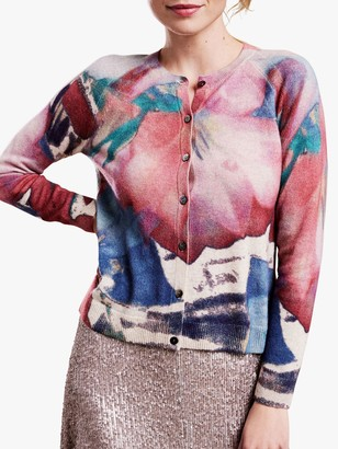 Pure Collection Cashmere Cardigan, Garden Floral Print