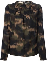 Michael Kors camouflage blouse