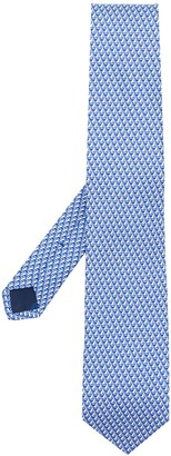 Salvatore Ferragamo Sailboat Print Tie