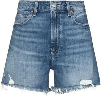 Paige Dani high-waisted denim shorts
