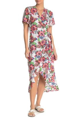 La Blanca Jardin Wrap Cover-Up Maxi Dress