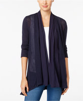 Style&Co. Style & Co. Mixed-Media Open-Front Cardigan, Only at Macy's
