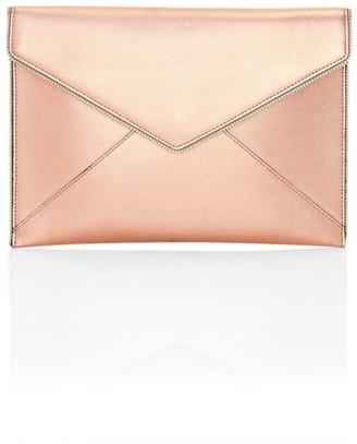 Rebecca Minkoff Leo Metallic Leather Envelope Clutch