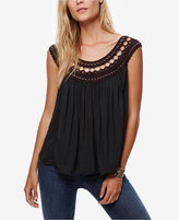 Free People Knit-Trim Sleeveless Top