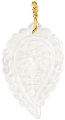 Thumbnail for your product : Tamara Comolli India 18K Yellow Gold & White Mother-Of-Pearl Large Leaf Pendant
